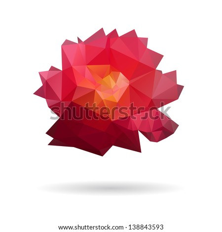 Rose abstract isolated on a white backgrounds - stock vector