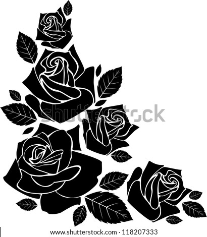 Rose silhouette Stock Photos, Images, & Pictures ...