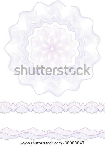 rosette, border - stock vector