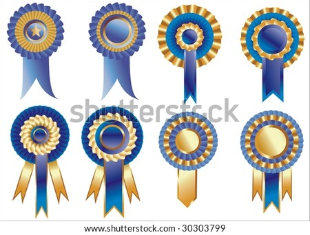 rosettes - stock vector
