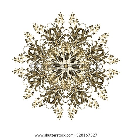 Rosettes-snowflake - stock vector