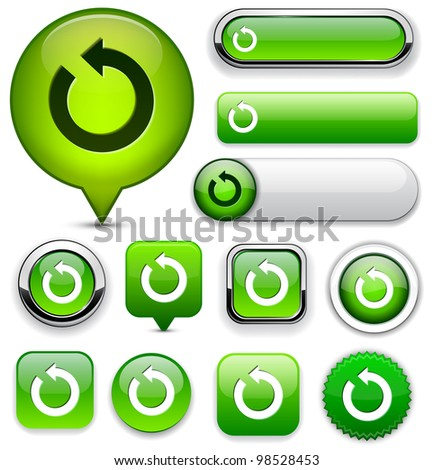 Rotate green design elements for website or app. Vector eps10. - stock vector