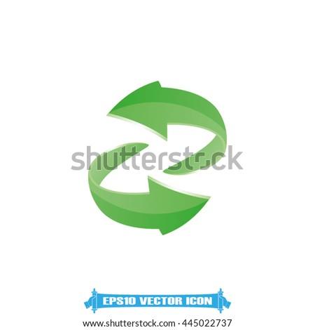 Rotation arrows icon vector illustration eps10. - stock vector