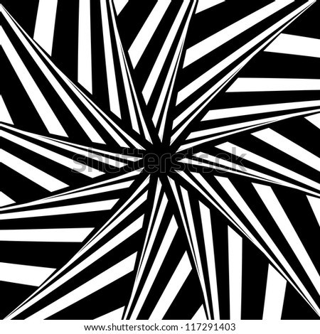 Rotation illusion. Abstract design. Vector art. - stock vector