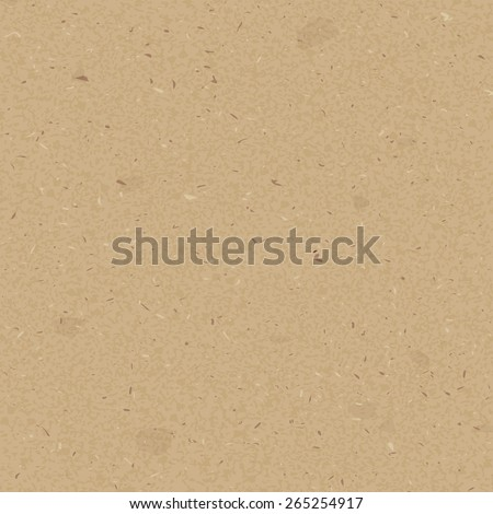 Rough brown paper seamless pattern - stock vector