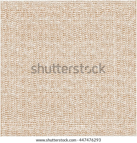 Rough fabric texture. Burlap background. Abstract vector. - stock vector