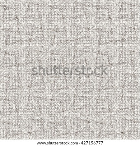 Rough wrinkled fabric texture. Monochrome. Abstract vector. - stock vector