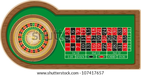 roulette casino vector illustration isolated on white background - stock vector