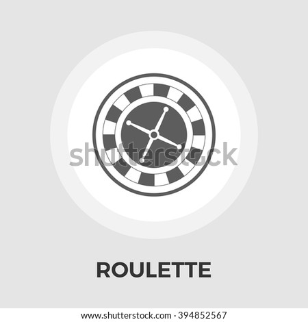 Roulette icon vector. Flat icon isolated on the white background. Editable EPS file. Vector illustration. - stock vector