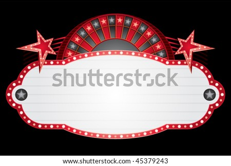 Roulette neon - stock vector