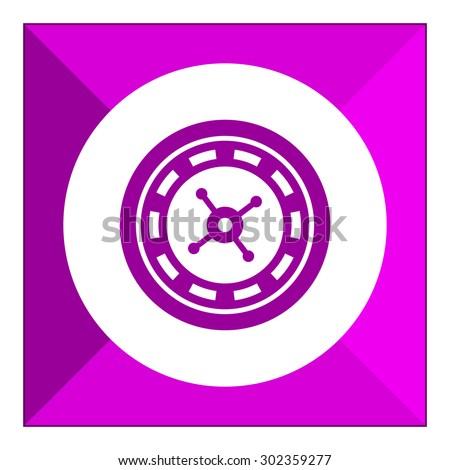 Roulette wheel icon - stock vector