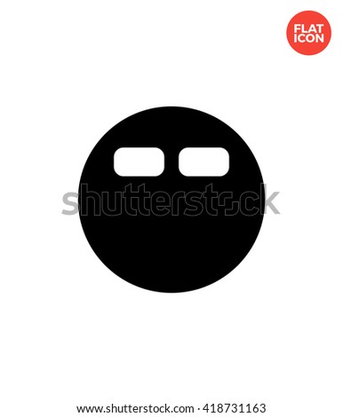 Round bed Icon Flat Style Isolated Vector Illustration - stock vector