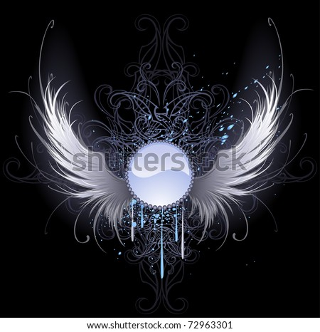 angel wings black background - photo #18