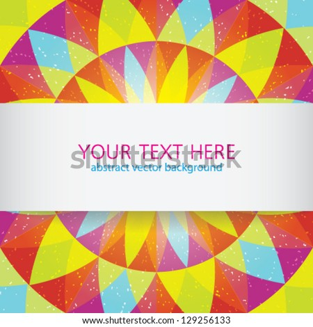 Round bright background with bg for text - stock vector