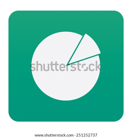 round chart icon - stock vector