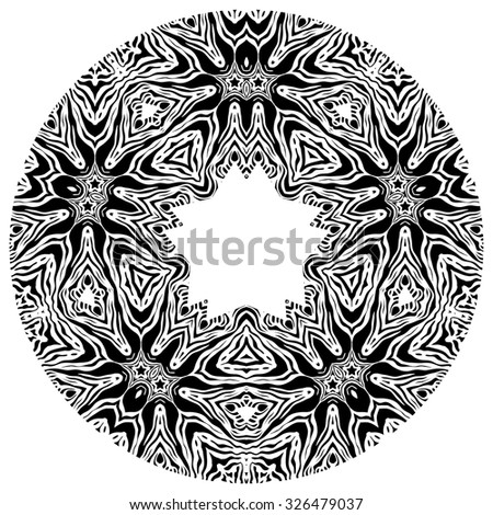 Round ethnic element for design, background, card, banner, leaflet and so on. - stock vector