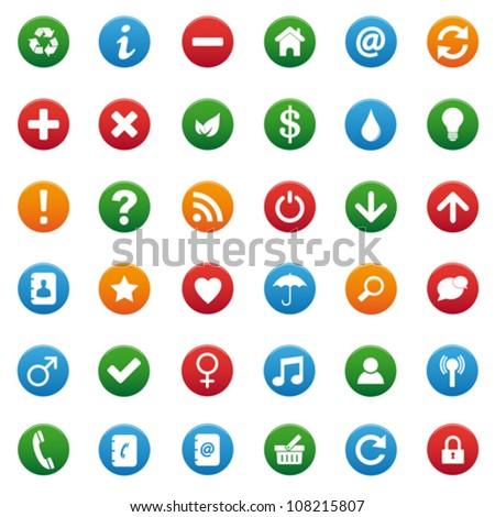 Round icons - stock vector