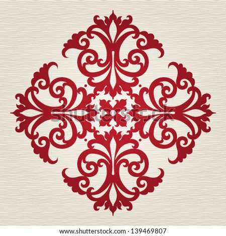 Round ornament in Victorian style. Element for design. It can be used for decorating of invitations, cards, decoration for bags and at tattoo creation. - stock vector