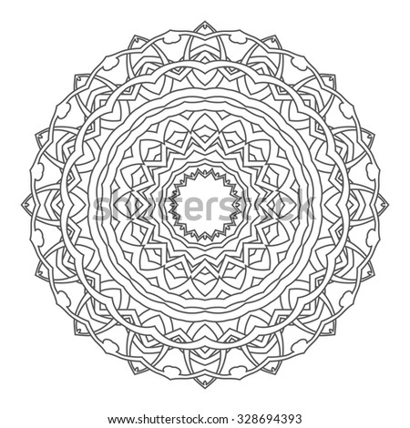 Round ornament. Vector illustration - stock vector