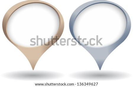 Round position indicator in silver and bronze - stock vector