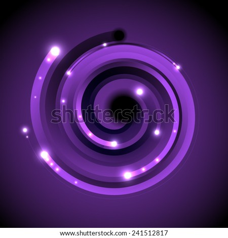round stripes abstract - stock vector