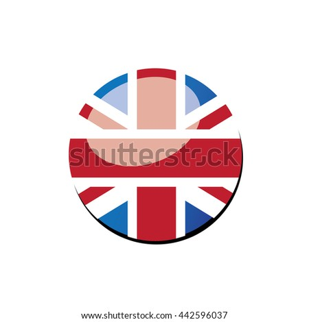 round UK flag-vector - stock vector