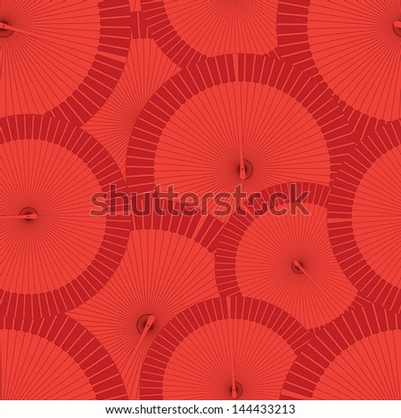 round vector flamenco fan seamless wallpaper background pattern - stock vector