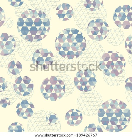Round with hexagon signs. Retro pattern of geometric shapes. - stock vector