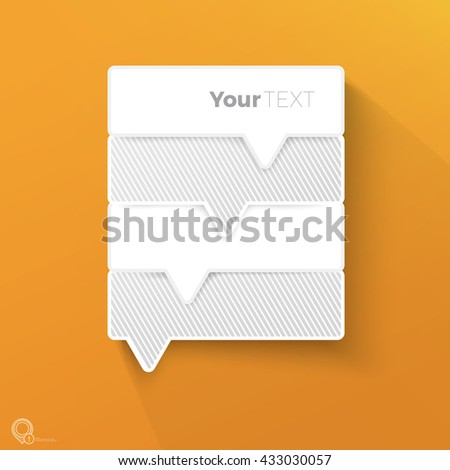 Rounded Rectangle Shape Vector Design Ranking Menu Element on an Orange Background for Your Text - stock vector