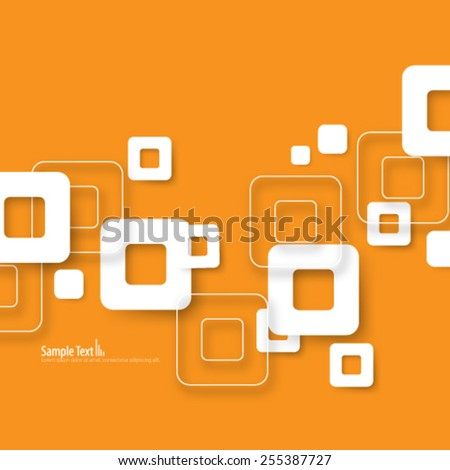Rounded Squares Modern Background - stock vector