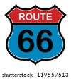 Route 66 sign, vector illustration - stock vector