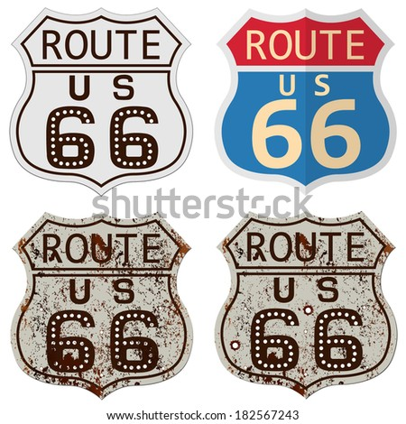 Route sixty six - stock vector