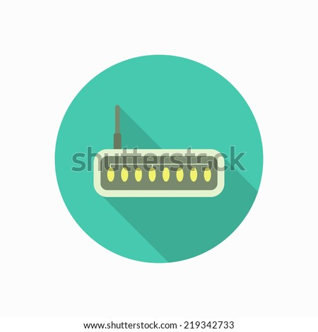 router icon illustration - stock vector
