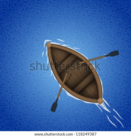 Row Boat Illustration Rowing Boat Background