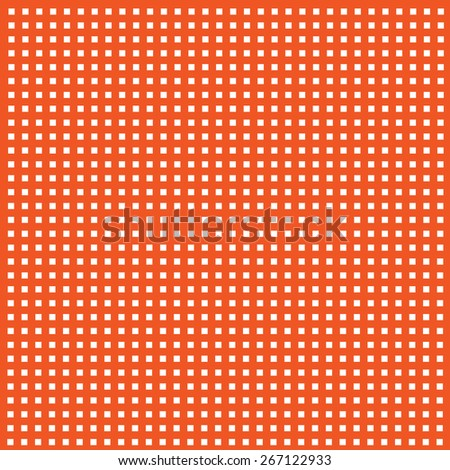 rows of white squares on orange background - stock vector