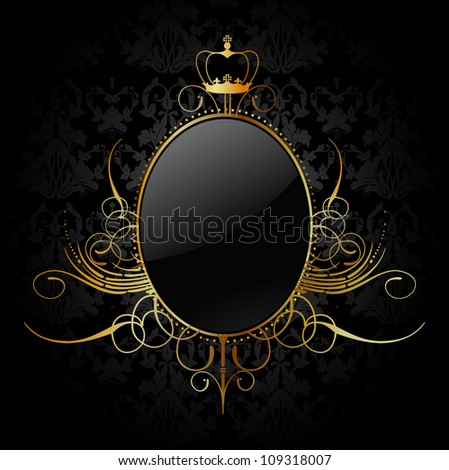 Royal background with golden frame. Vector - stock vector