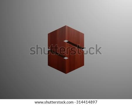 Royal logo vector design. Letter s icon. Vector illustration - stock vector