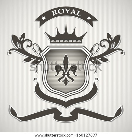 Royal modern badge illustration wallpaper - stock vector