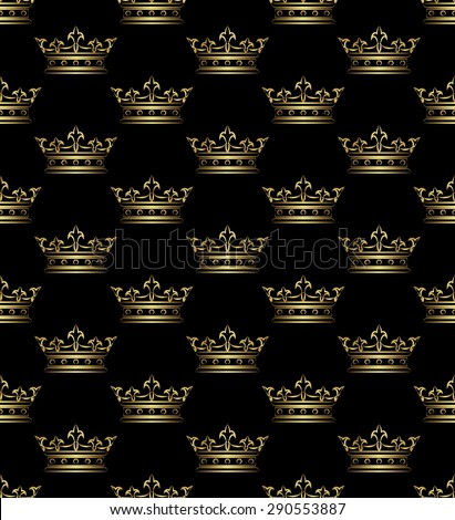 royal pattern seamless - stock vector