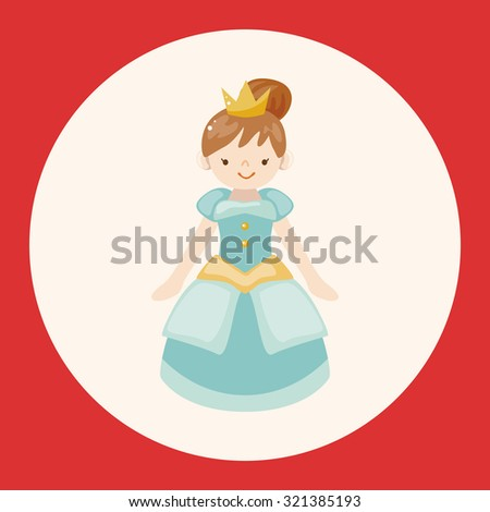 Royal theme princess elements - stock vector