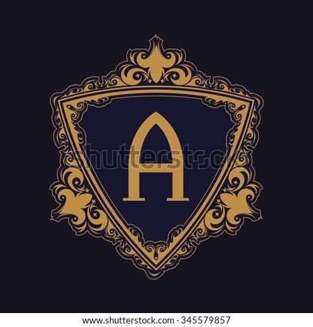 Royal Triangle Border Typeface set - stock vector