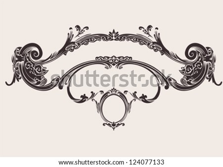 Royal Vintage Curves Banner - stock vector