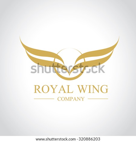 Royal Wing,eagle Logo,Vector Logo template - stock vector