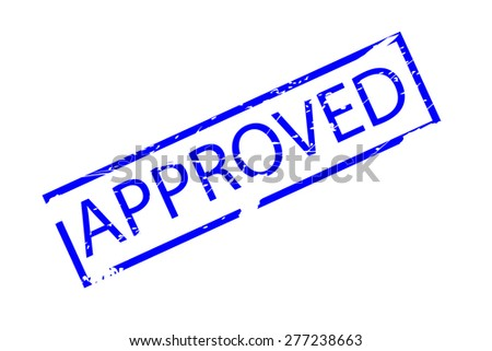 Rubber Stamp - Approved  - stock vector