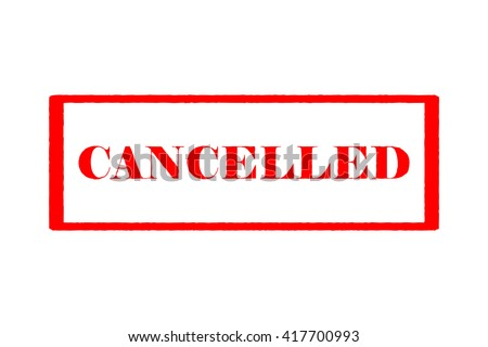 """Rubber Stamp """"Cancelled"""" - stock vector"""