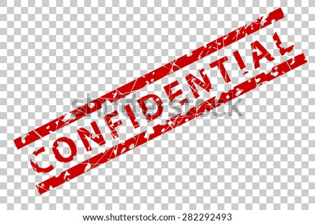 Rubber Stamp - Confidential  - stock vector