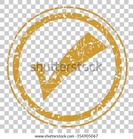 Rubber Stamp Effect - Quality Control Checked   - stock vector