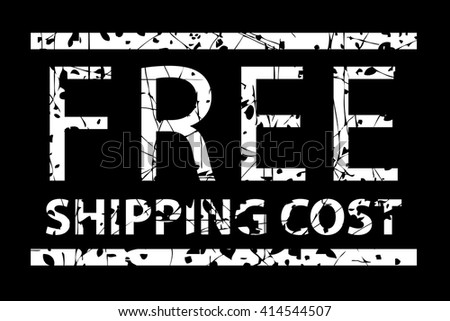 Rubber Stamp - Free Shipping Cost   - stock vector