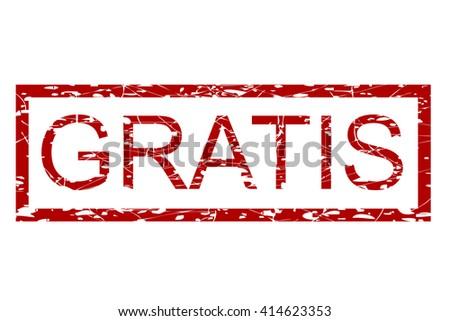 Rubber Stamp - Gratis (Free in Indonesia Language)  - stock vector