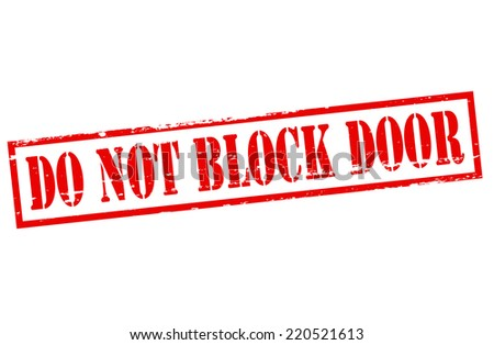 Rubber stamp with text do not block door inside, vector illustration - stock vector